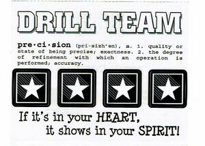 Details about SRM - Drill Team Scrapbooking Sticker - Word, definition,  quote