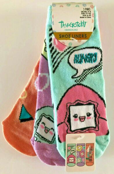 3 Paar Bandai Tamagotchi Damen Sneaker Socken Füßlinge Lustig Bunt 37-42 Primark