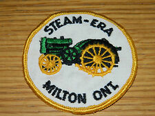 ancien PATCH insigne ECUSSON STEAM ERA MILTON ont ONTARIO ANTIQUE TRACTOR canada