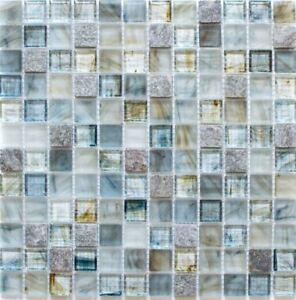 Mosaico-vetro-grigio-chiaro-Specchio-Piastrelle-Cucina-Rivestimento-Parete-Bagno-94-2505-10