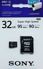 Sony 32gb microSD SDHC uhs-1 u3 class 10 tarjeta microSD con Adaptador SD nuevo & OVP