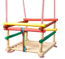Kinderschaukel Holz Babyschaukel Gitterschaukel In & Outdoor zum Aufhängen 6248