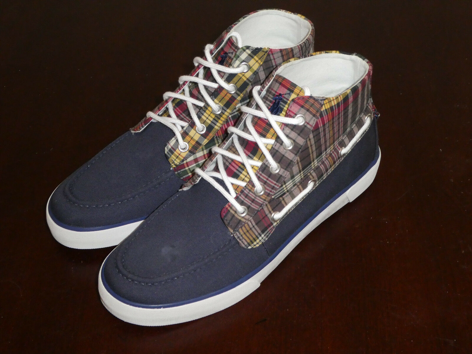 Polo Ralph Lauren Lander Chukka homme chaussures sneakers new defect fruit canvas defect new 802ad6