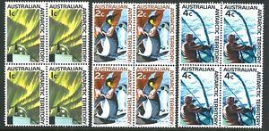 Australian-1966-MNH-First-Decimal-Stamp-Blocks-4x-1c-2c-4c-Antarctica-issues