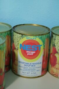 Vintage-1970s-Neo-Life-NEST-Vegetable-Noodle-Soup-Mix-Can-Full-Unopened-Storage