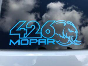 Details about 426 Hellephant Mopar Vinyl Decals
