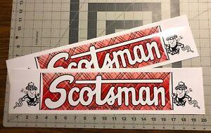 Scotsman-Travel-Trailer-Decal-Gardena-Calif-Red-Green-Blk-amp-White-Set-Of-2