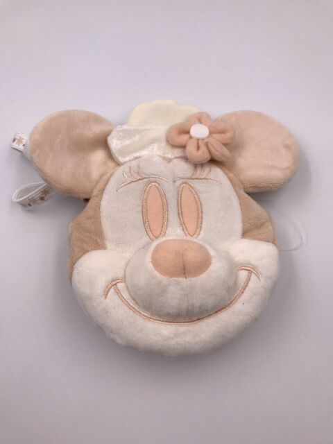 Tokyo Disneyland Resort Japan: White Minnie Annual Passport Plush Pouch (F2)