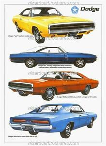 1970 DODGE CHARGER RANGE R/T SE 500 A3 POSTER AD SALES BROCHURE ADVERTISEMENT