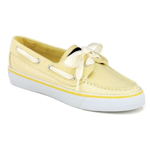 MSRP $75 Details about  /Sperry Top-Sider Yellow BAHAMA Sequin Boat Shoe