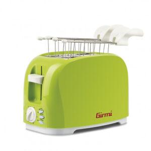 Girmi Tostapane 2 Fette 800 W Verde Bianco TP1103
