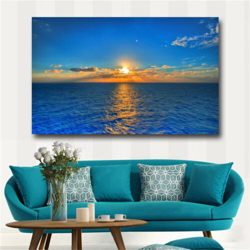Large art prints Home Decor Canvas Painting Wall Art Blue sea view