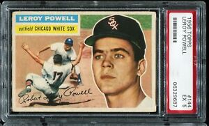 1956-Topps-144-LEROY-POWELL-Chicago-White-Sox-RC-Rookie-Gray-Back-PSA-5-EX