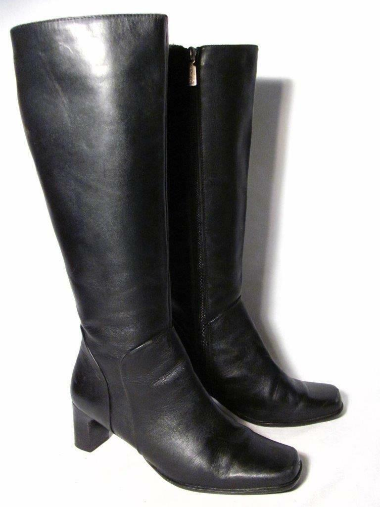 Blondo size Knee High Boot Women size Blondo 7.5 Black Leather 082713