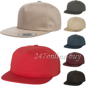 d41f309cca88d Image is loading New-for-2018-Yupoong-Unstructured-5-Panel-Snapback-