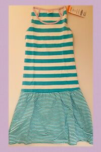 GYMBOREE MIX N MATCH MULTI COLOR STRIPE /& FLORAL DROPWAIST KNIT DRESS 7 NWT