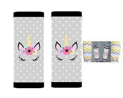 Cute Unicorn Baby Seat Belt Strap Covers Set of 2