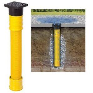 Tonne Ablauf Rohr Dränage Garten Regenwasser Sickerschacht Ø 110 DN 100 Regen