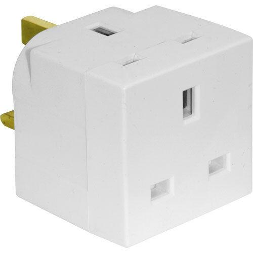 New 2 voie ménage plug adaptateur pin 3