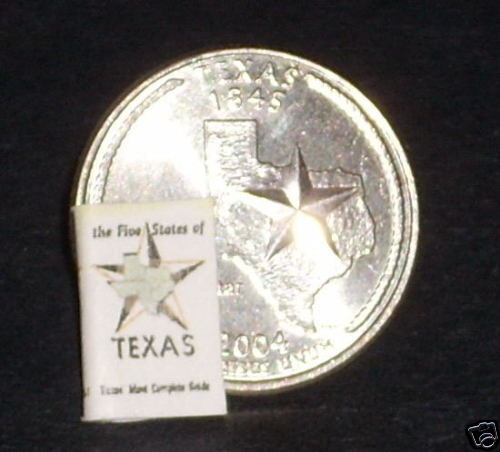 "/""The Five States of Texas/"" Dollhouse Miniature Book"