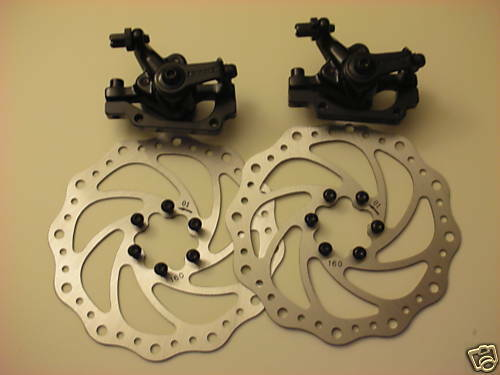 NEW BENGAL Bike Bicycle Disk Disc Brake Caliper 160mm F & R Set + PADS