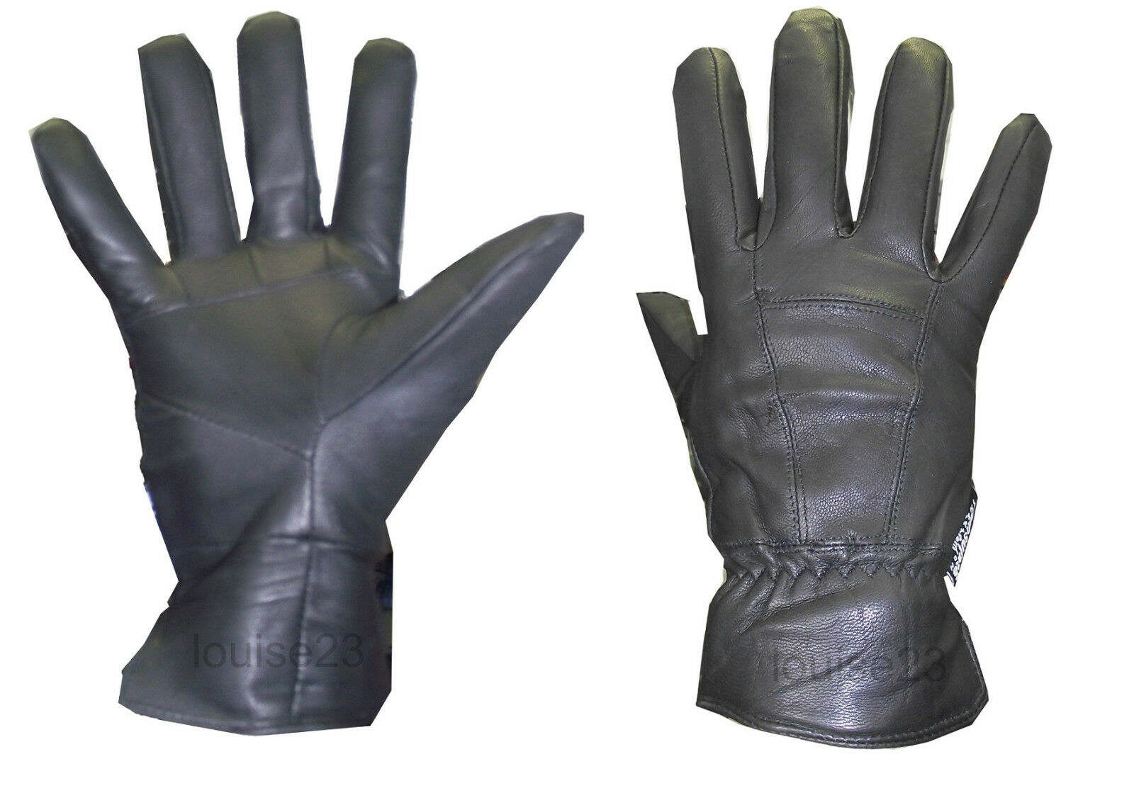 b2984be3576 Details about G18 MENS DESIGNER THINSULATE LINED WINTER WARM LEATHER GLOVE  DRIVING SMART BLACK