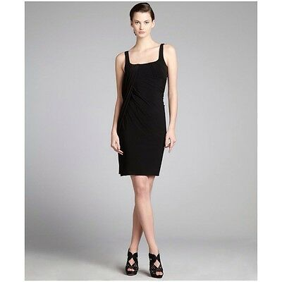 $795 ALEXANDER WANG Runway Black Draped With Sash Dress Sz 6