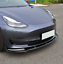 Indexbild 3 - Carbon-Look-Spoilerlippe-Frontansatz-Spoilerschwert-Fuer-Tesla-Model-3-Limo-17-19