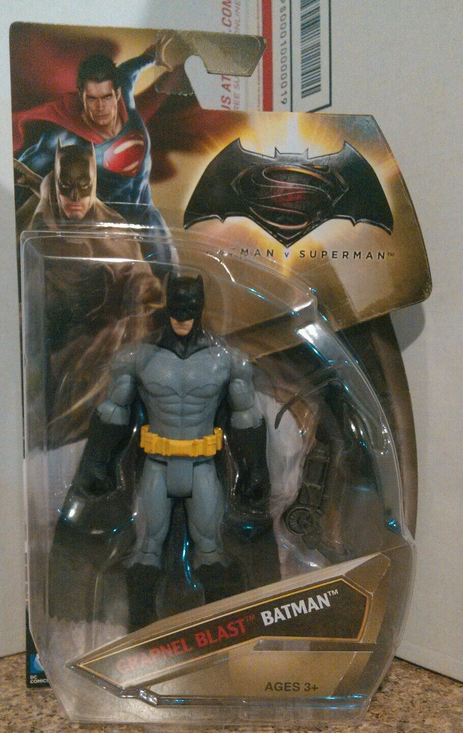 Mattel DC Batman v Superman Grapnel Blast Batman 6in Rare flawed bat  NEW