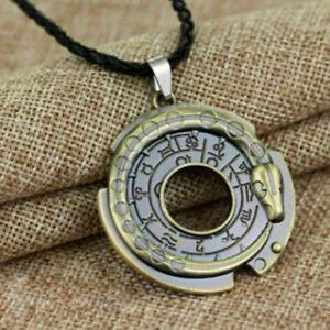 Unisex-Metall-Schmuck-Amulett-Anhaenger-Halskette-Gluecklich-Schutz-Talisman