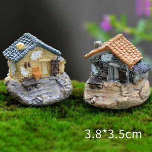 Vintage-Haus-Miniature-Mini-Handwerk-Micro-Landschaft-Accessor-HH