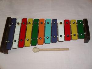 Collection Ici Circa 1950/60s Vintage Couleur Xylophone-afficher Le Titre D'origine