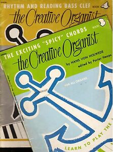 2-Pack-of-034-The-Creative-Organist-034-Music-Books-by-Hans-Von-Holwede-Used-Books
