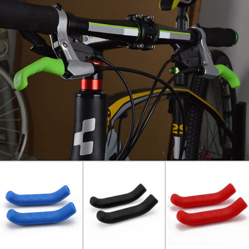 1 Pair Silicone Bicycle Brake Lever Skin Grip Cover Protector Mountain Bike MTB