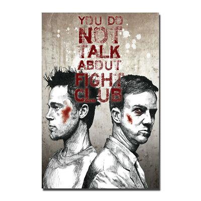 Fight Club Classic Movie Film Silk Poster Print 12x18 24x36 inch Brad Pitt