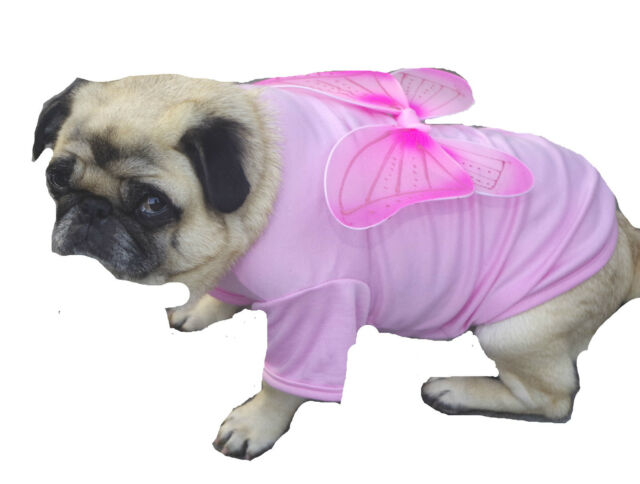Dog T Shirt  Pink Fairy Wings S M - Pet Puppy Clothes Costume Princess Angel