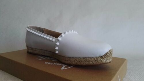 Woman Christian Shoes Flats Espadrilles White Ares 9 Leather 39 Louboutin Spring 8r8qwf