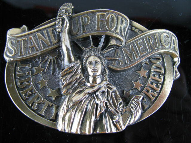 STAND UP FOR AMERICA BELT BUCKLE LIBERTY FREEDOM BUCKLES