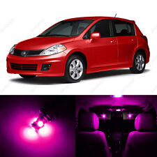 6 x Pink/Purple LED Interior Light Package For 2007 - 2013 Nissan Versa