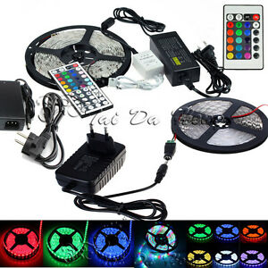 5M-10M-15M-SMD-3528-5050-5630-300LEDs-RGB-White-LED-Strip-Light-12V-Power-Supply
