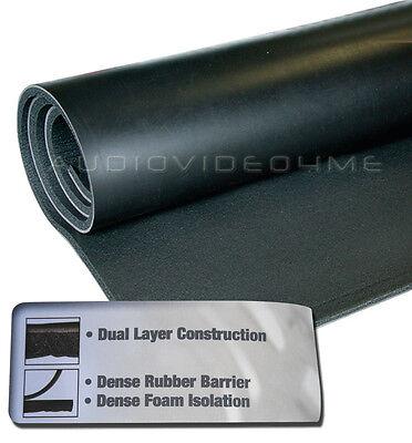 Dual Layer Foam/Rubber Sound Vibration Noise Damping Floor Under Carpet Pad