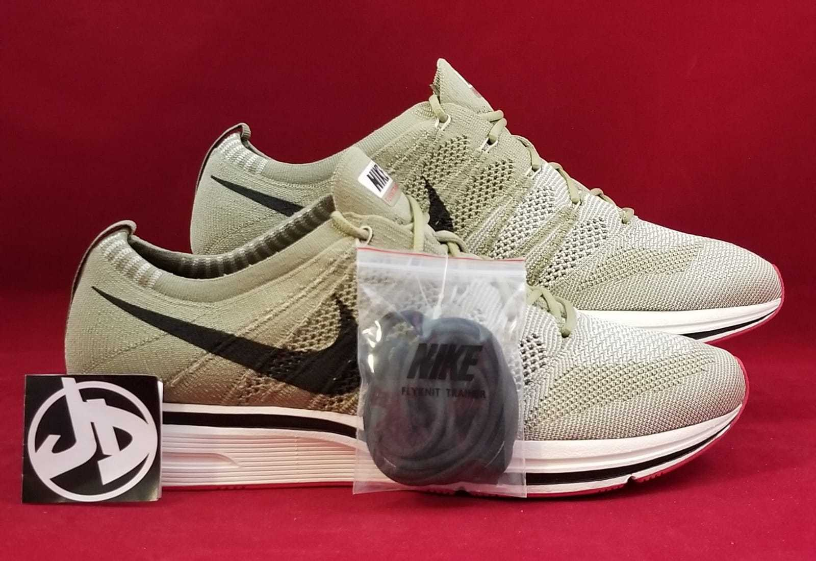 afe435f16829 Nike Flyknit Trainer Neutral Olive Velvet Running Shoes ( Ah8396 201 ...