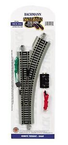 Bachmann-HO-Scale-Nickel-Silver-Gray-Roadbed-EZ-Track-RH-Remote-Turnout-Switch