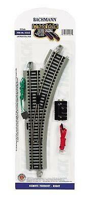 Bachmann HO Scale Nickel Silver//Gray Roadbed EZ-Track RH Remote Turnout Switch