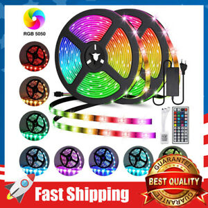 Led Strip Lights 32.8ft Waterproof Flexible Color Changing RGB Remote Controller