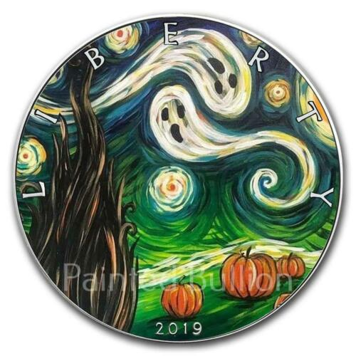 2019 Starry Night Halloween 1 oz US American Silver Eagle Coin