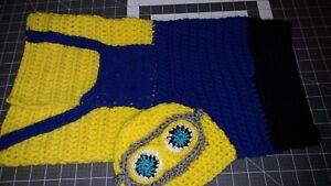 2529c1cf New Baby Minion Sleeping bag sleep sack set Handmade Crocheted   eBay