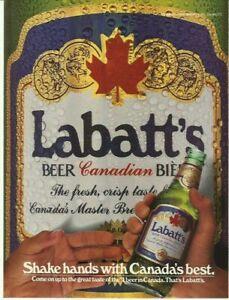 1986 Print Ad Labatt's Canadian beer Vintage 80's