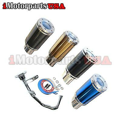 CHROME ACCESSORY MUFFLER EXHAUST 50-100CC GY6 4STROKE CHINESE SCOOTER TAOTAO JCL