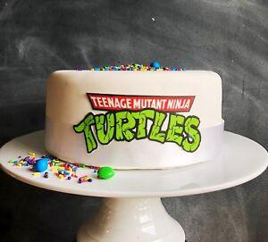 Teenage-Mutant-Ninja-Turtles-edible-Image-Photo-Logo-cake-topper-TMNT